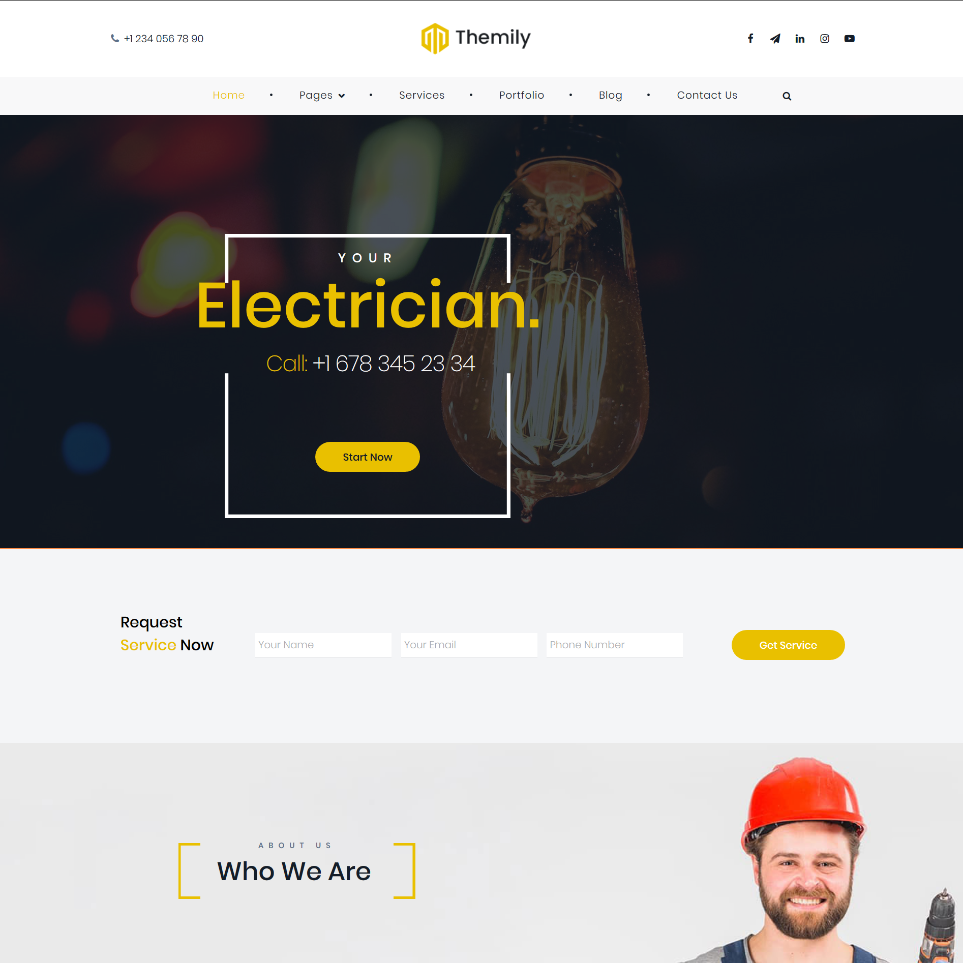 free wp theme for electrician