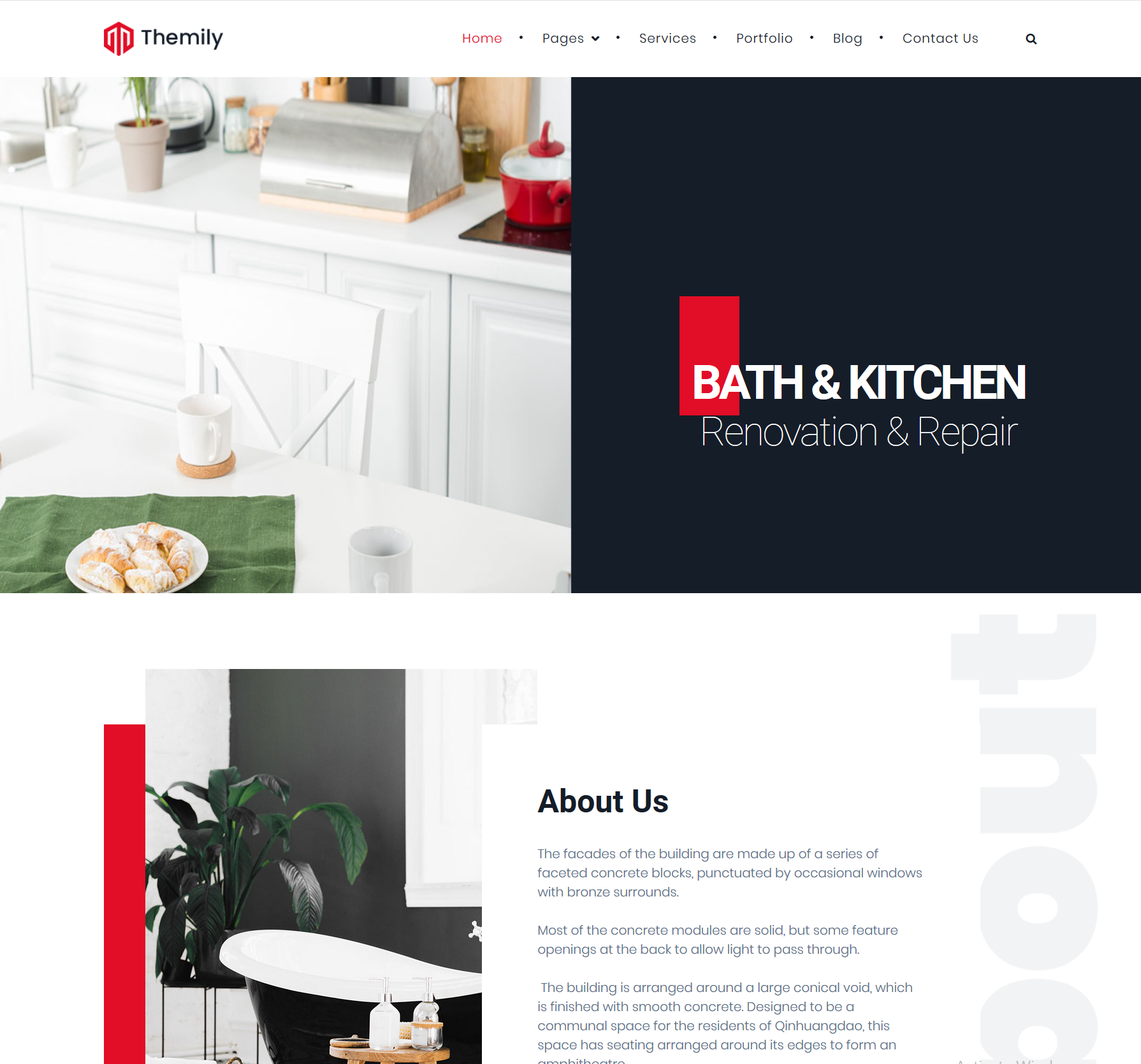 free theme for kitchen and bacth repair and renovation