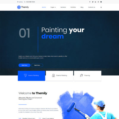 painting free wordpress theme