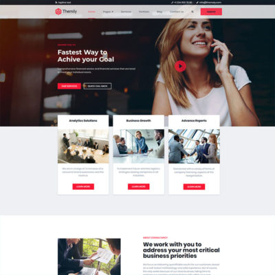 free financial wordpress theme