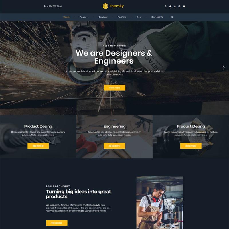 industrial manufacturer WordPress theme